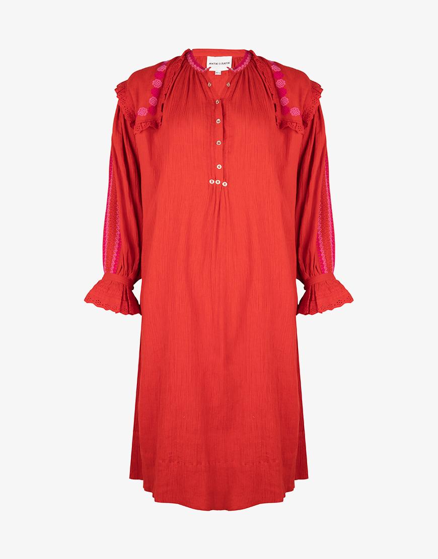 Mes Demoiselles Glaieul jurk red combo