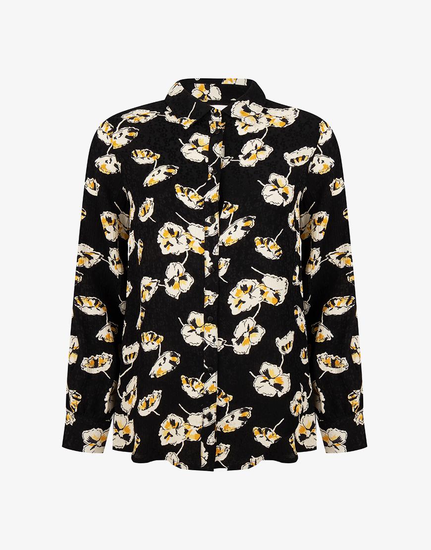 Ba&sh Una blouse zwart print