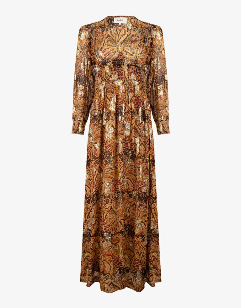 Ba&sh Quartz jurk geel print