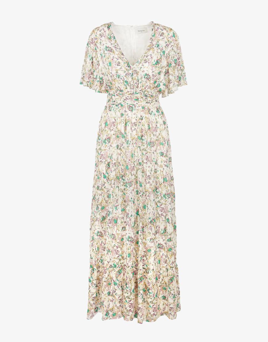 Berenice Ready jurk wit bloemenprint