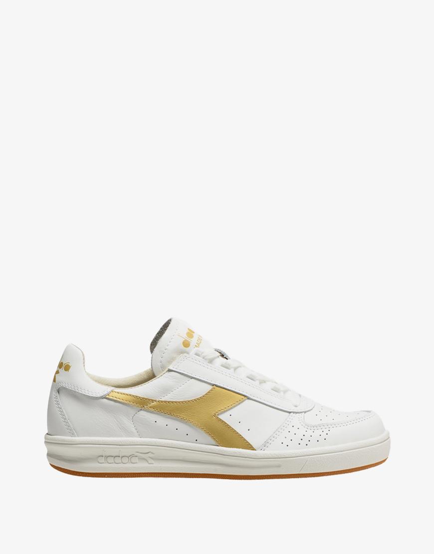 Diadora Heritage B. elite italia sport sneaker white-gold