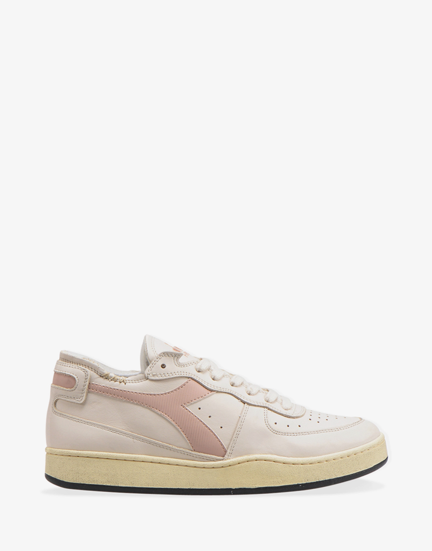 Diadora Heritage Mi Basket row cut sneaker egg white