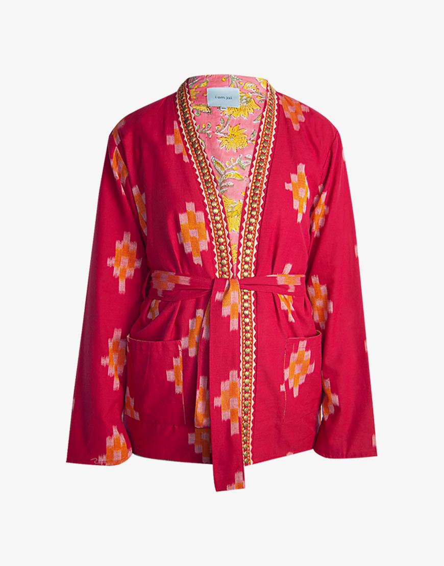 I Am Jai Jaipur kimono roze