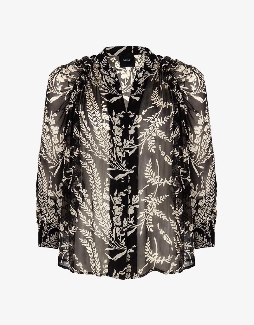 Idano Nicolas blouse zwart