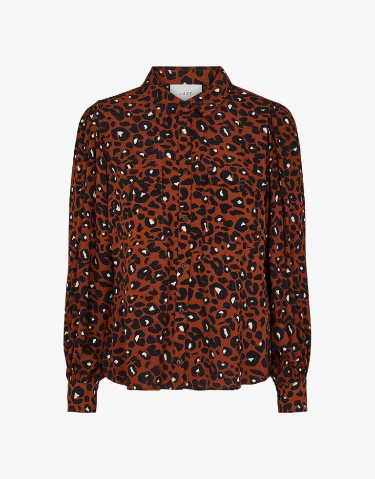 Just Female Leona blouse print bruin