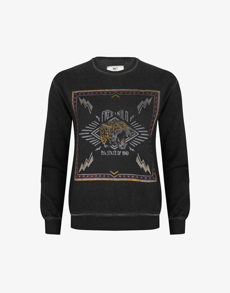 MKT state sweater panter zwart