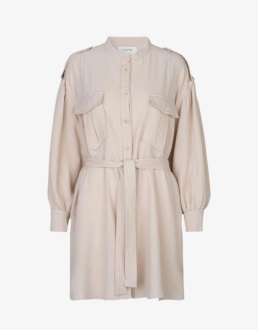 Munthe Split jurk biege