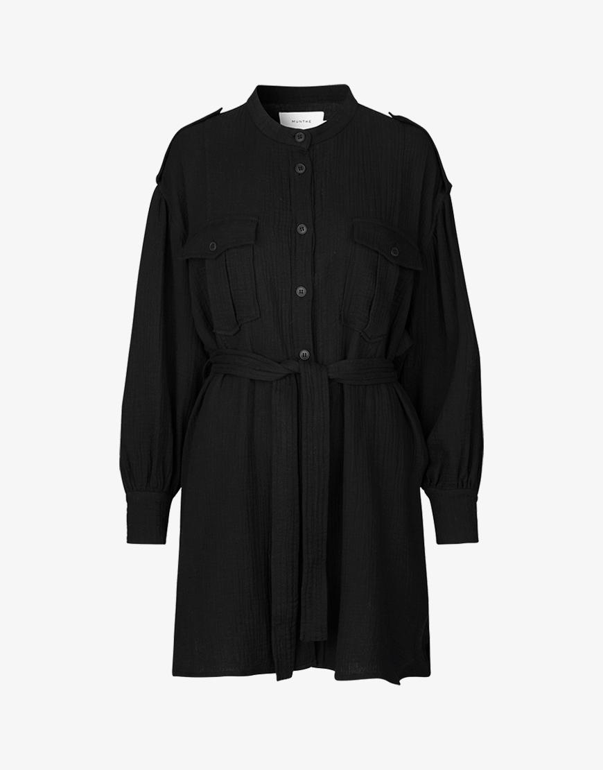 Munthe Split jurk zwart