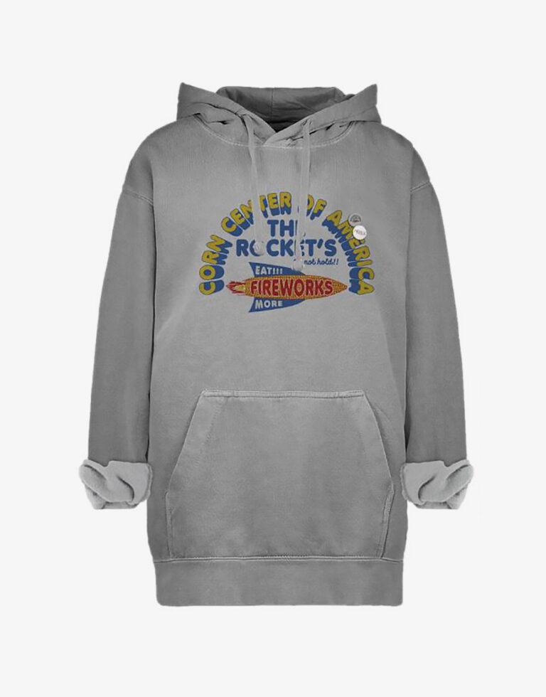 Newtone Corn hoodie grijs