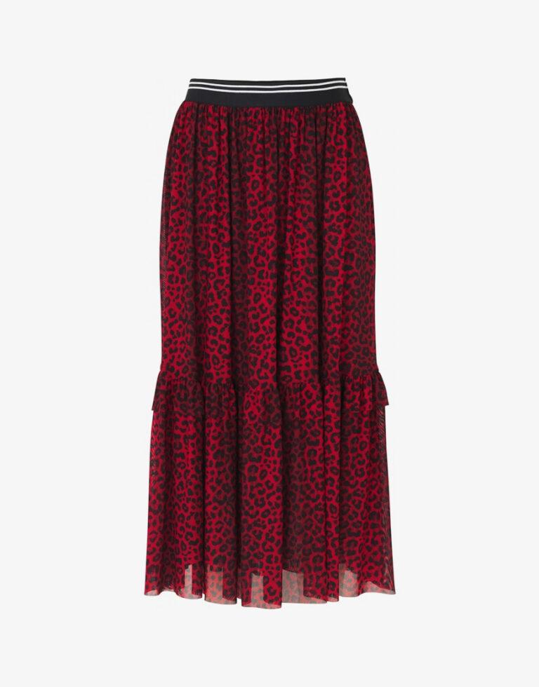 Notes du Nord Naomie rok luipaard print rood
