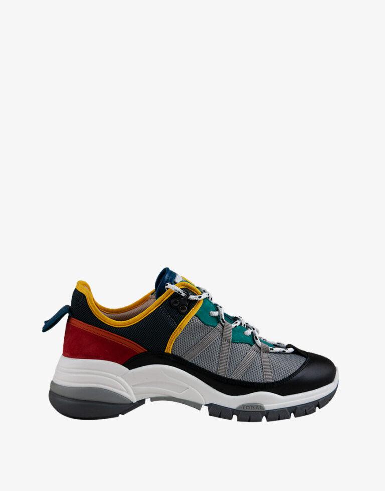Toral Ante sneaker grijs multicolor
