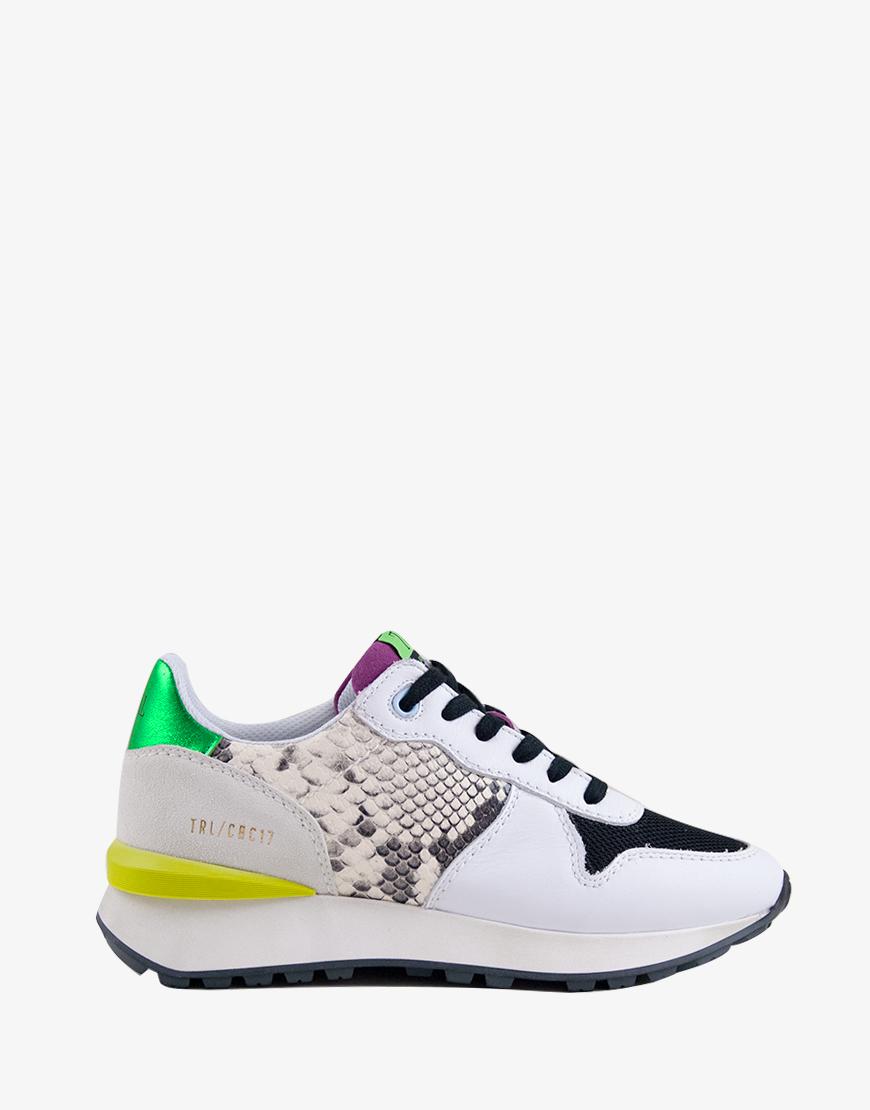 Toral Day Diam sneaker snake wit