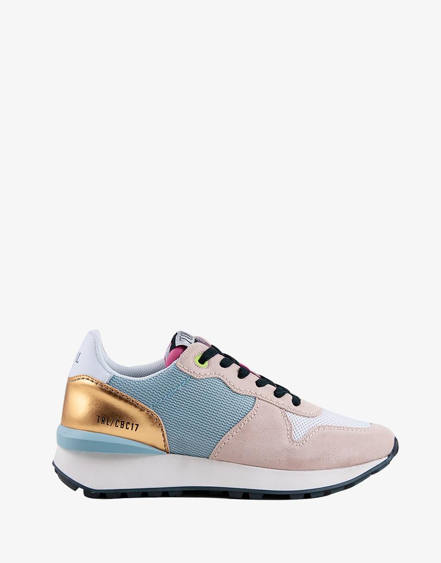 Toral Maddox Celeste sneaker goud suède