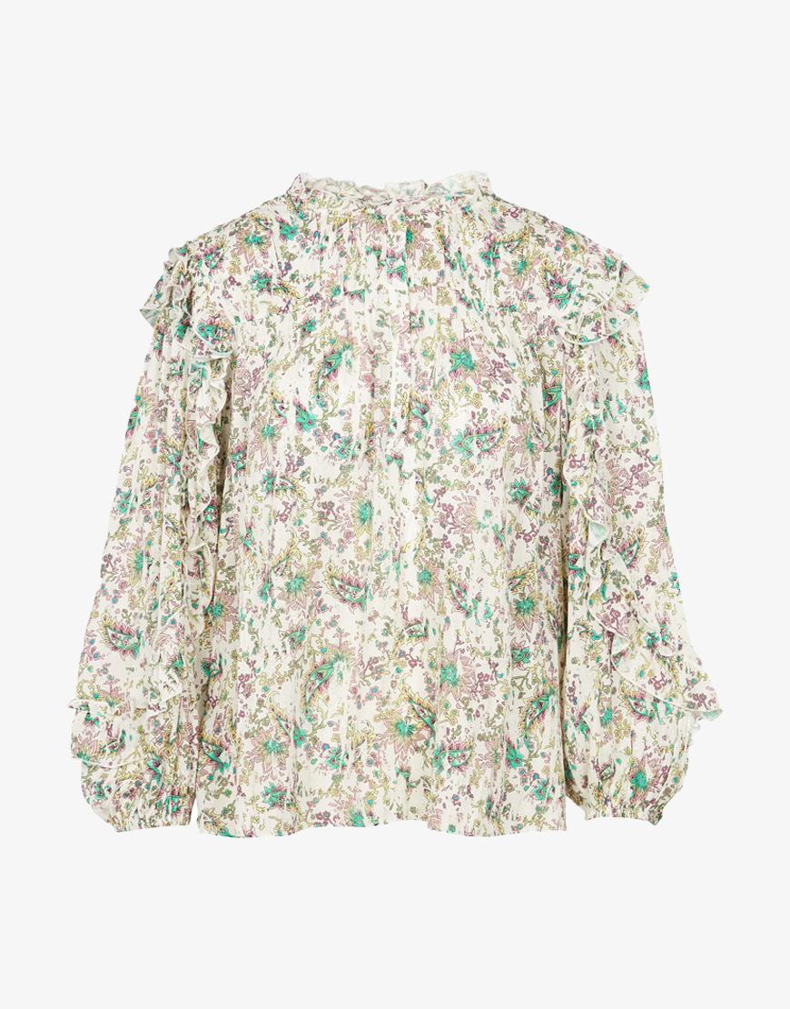 Berenice Theo blouse wit bloemenprint
