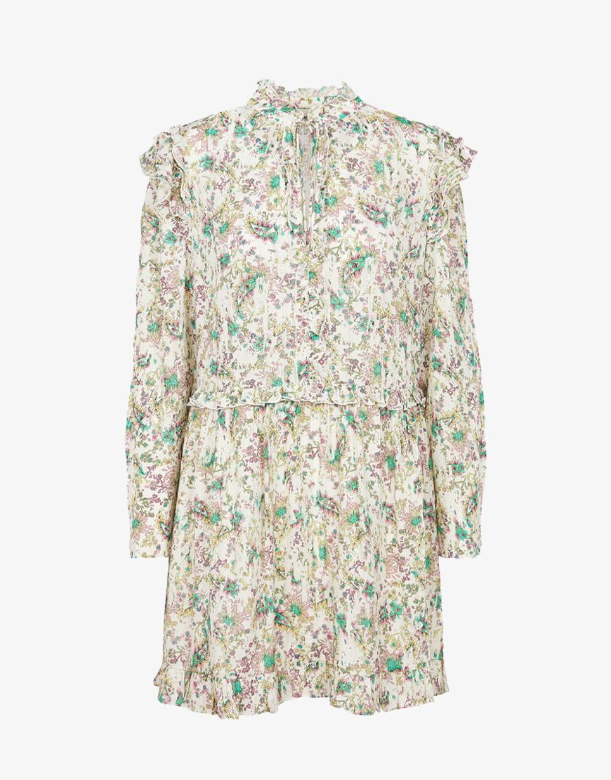 Berenice Roma jurk wit bloemenprint